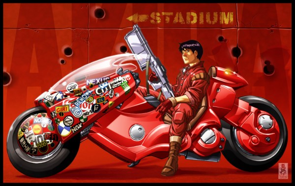 Akira: Kaneda and Bike by Mark Brooks