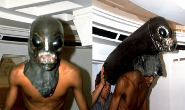 Bolaji Badejo Alien head trials