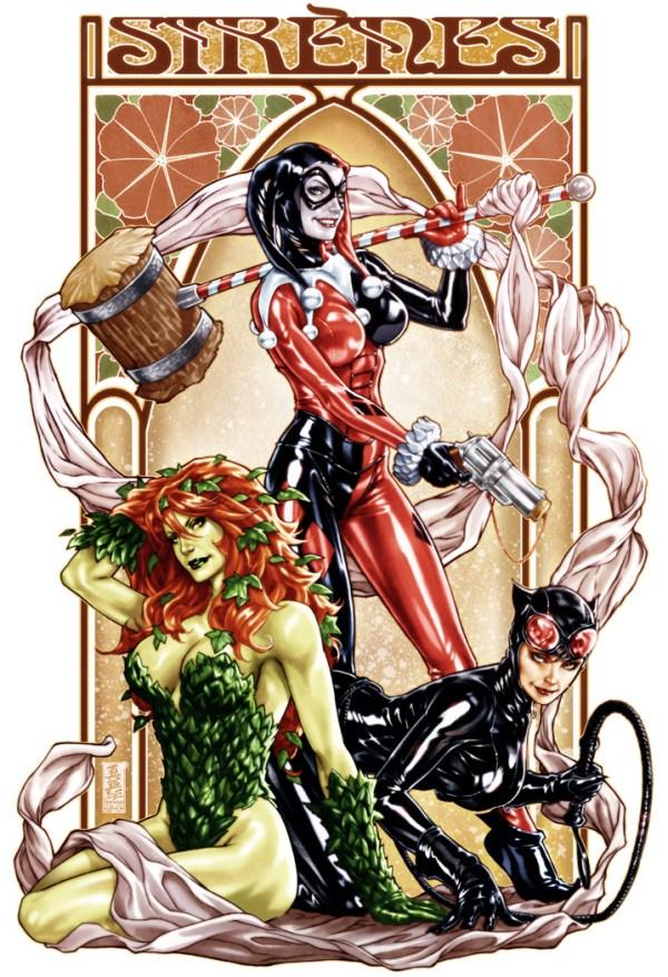 Batman: Gotham Sirens by Mark Brooks - Harley Quinn, Catwoman, Poison Ivy