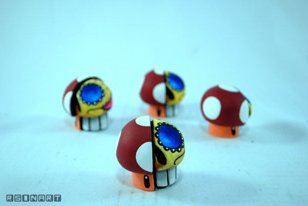 Dead Ups by Rsin Art - Super Mario Bros Vinyl Figures