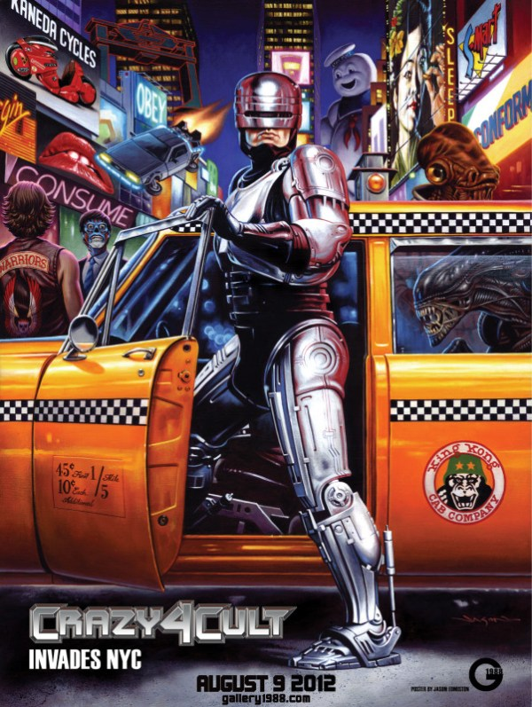 Gallery1988's Crazy 4 Cult Invades New York Poster by Jason Edmiston