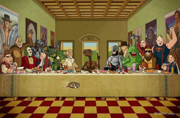 80s Last Supper by Bill McConkey
