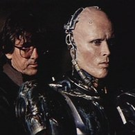 RoboCop Behind the Scenes Photo - Paul Verhoeven and Peter weller