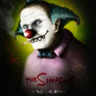 Creepy Scary Krusty the Clown by Flavio Luccisano - The Simpsons