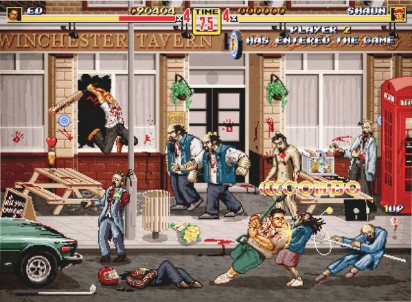 Shaun of the Dead as a Side Scrolling Beat 'Em Up Game - Streets of Rage, Final Fight