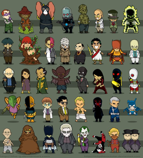 Chibi Batman Villains - Comic Book