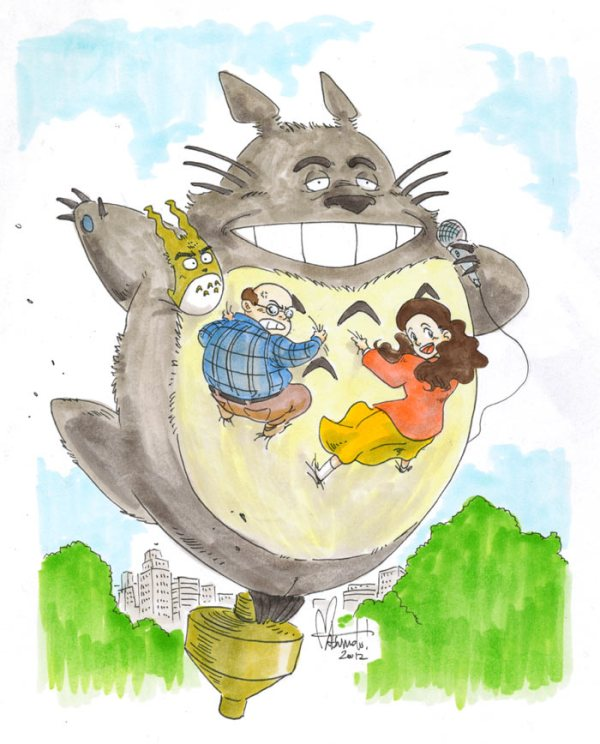 My Neighbor Seinfeld by Space Coyote - Totoro Anime Tv Fanart