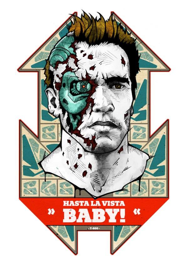Hasta la vista baby! - T-800 - Terminator - arnold schwarzenegger