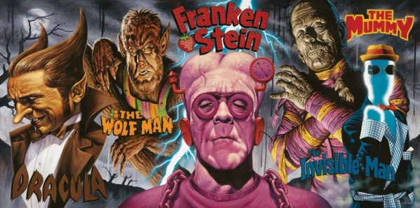 Cereal Monsters by Jason Edmiston - Count Chocula, Franken Berry, Boo Berry, Fruity Yummy Mummy, Fruit Brute