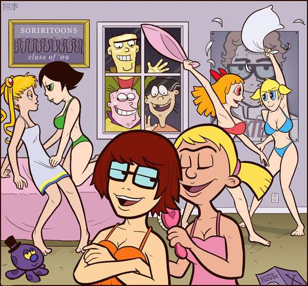 Velma, Powerpuff Girls, Bubbles, Blossom, Buttercup, Ed, Edd n Eddy, Sailor Moon