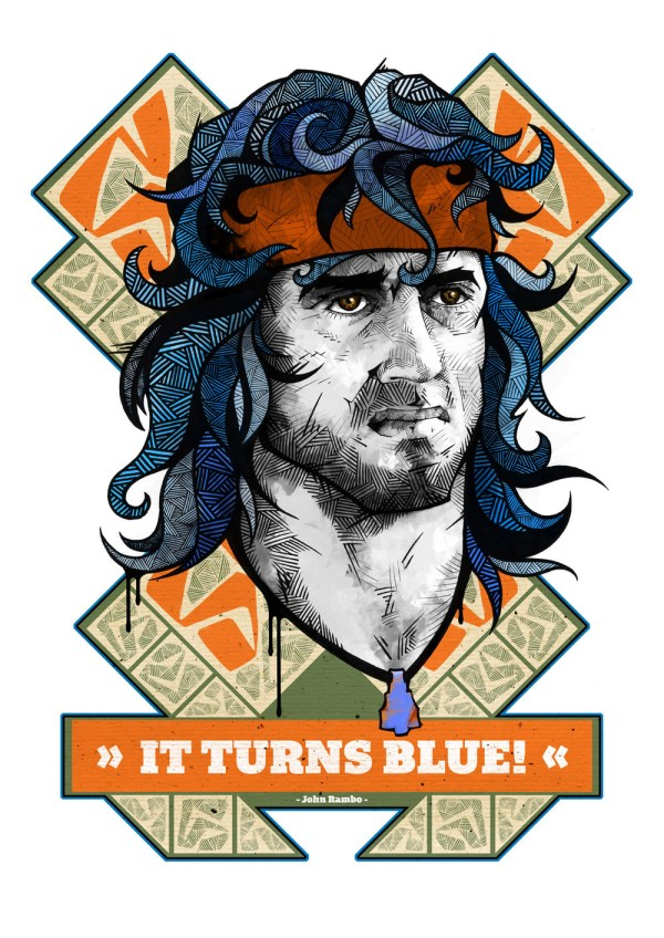It turns blue! - John Rambo - Sylvestor Stallone