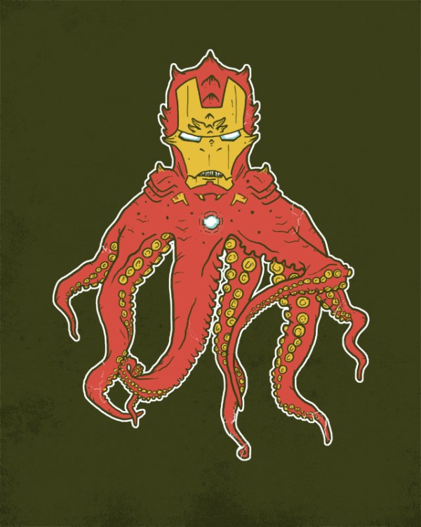 Ironthulhu: Iron Man x Cthulhu by Hillary White - H. P. Lovecraft, Marvel Comics