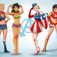Lady Avengers by Abraham Lopez