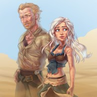 Daenerys Targaryen and Ser Jorah Mormont - Emilia Clarke, Iain Glen, Game of Thrones, Song of Ice and Fire, Disney