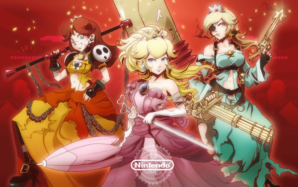 Torn Princesses - Super Mario Bros Fan Art, Peach, Daisy, Rosalina