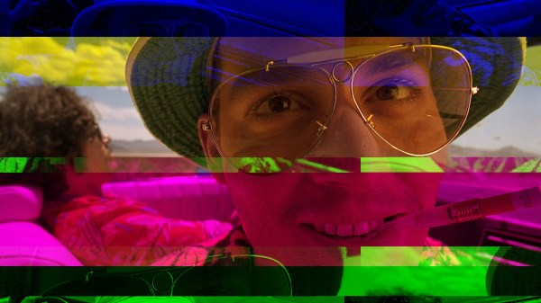 Fear and Loathing in Las Vegas Glitch Art - Hunter S. Thompson
