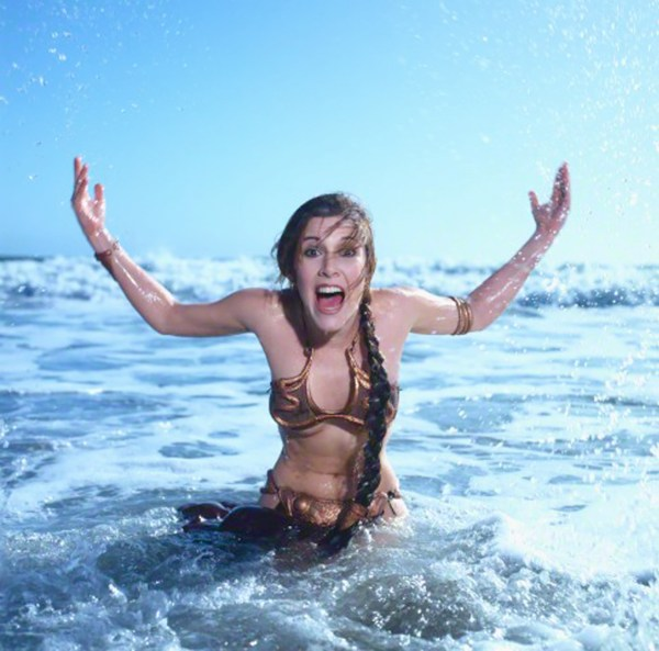 Slave Leia in water - Star Wars Rolling Stone Cover July 1983