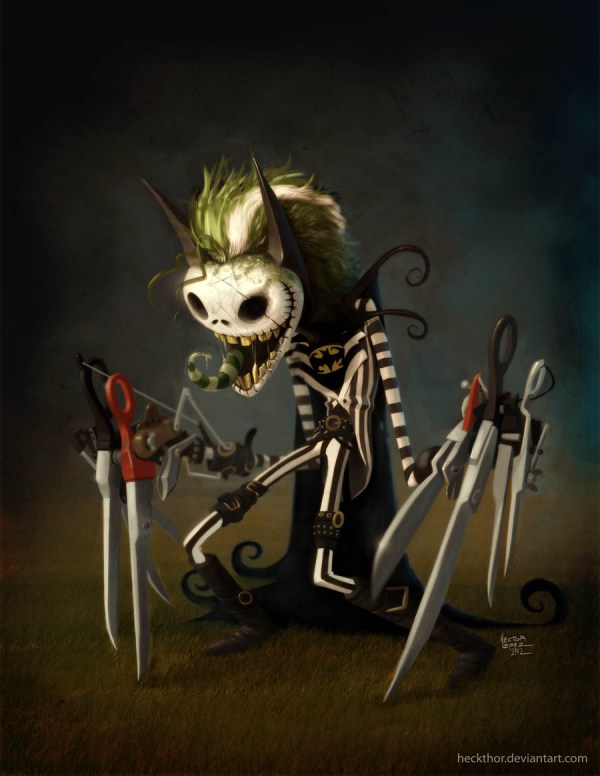 BeetleJack-ScissorMan - Beetlejuice, Jack Skellington, Nightmare Before Christmas, Edward Scissorhands, Batman, Tim Burton, Danny Elfman