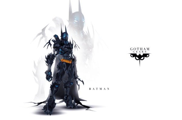 Gotham Gears: Batman by Justin Currie - Comics, Robots, Art