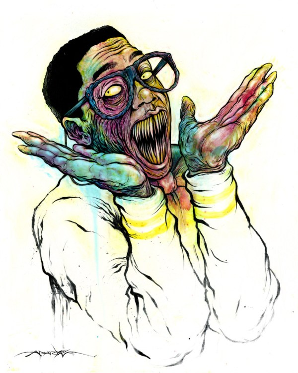 Demonic Steve Urkel by Alex Pardee - Family Matters, Horror, Monster, Scary