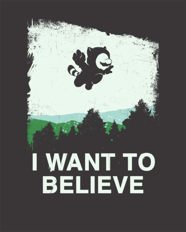 Plumbernormal Activity: X-Files x Super Mario Bros by Hillary White - I Want to Believe Poster