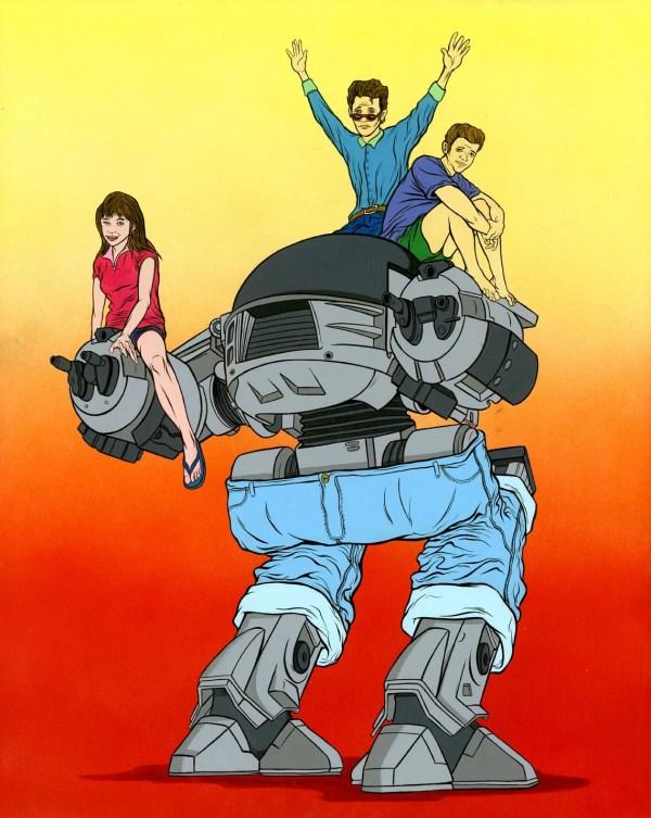 ED-2090210 by Alex Pardee - RoboCop x Beverly Hills 90210 Mashup FanArt, Brenda, Brandon Walsh, Dylan McKay, Luke Perry, Jason Priestley, Shannen Doherty