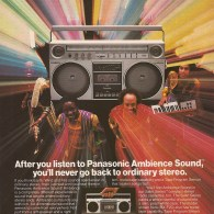 1980s Print Ad: Panasonic Ambience Sound with Earth, Wind & Fire