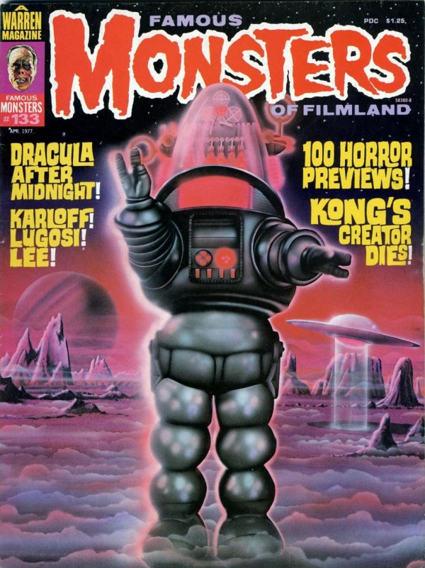 Famous Monsters of Filmland #133 - Forbidden Planet Robby the Robot