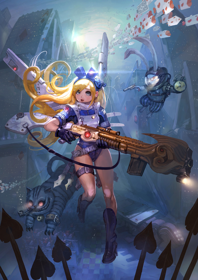 Fairy Tail 3d Wallpaper Fairy Tale Heroines With Guns By Park Insu