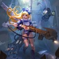 Cyberpunk Alice in Wonderland Illustration by Park Insu - sci-fi, underwater, alternative