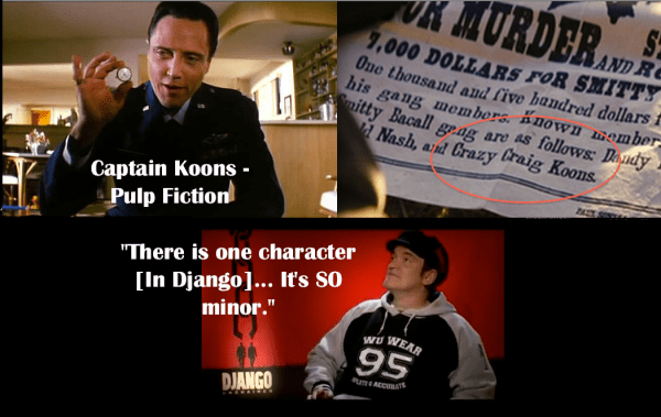 Pulp Fiction Character Reference in Django Unchained - Quentin Tarantino