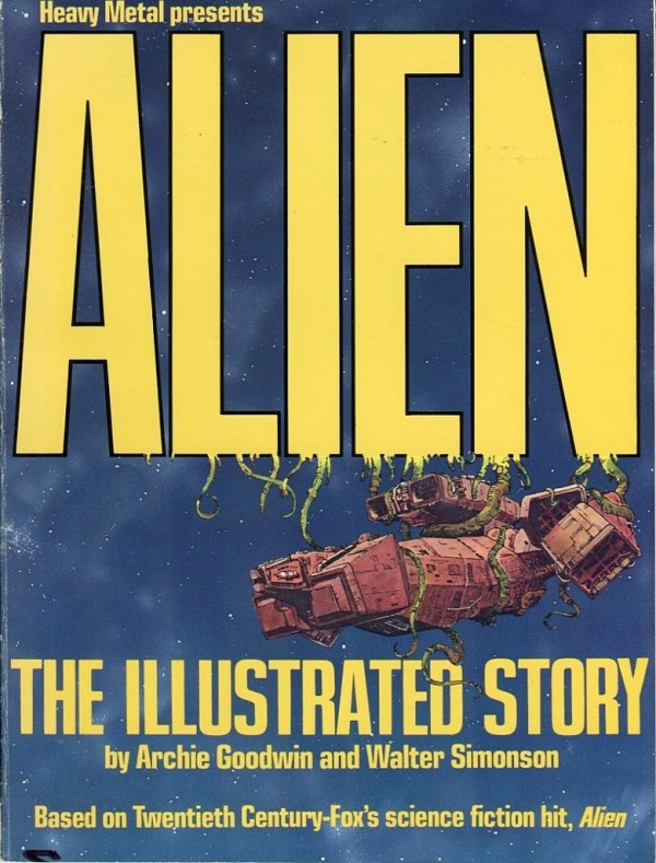 The complete Alien :The Illustrated Story by Archie Goodwin and Walter Simonson.Published by Heavy Metal comics 1979. (2)