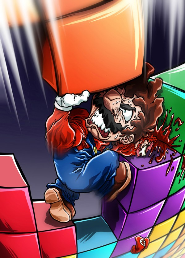 Mario vs Tetriminos by Sebastian von Buchwald - Tetris
