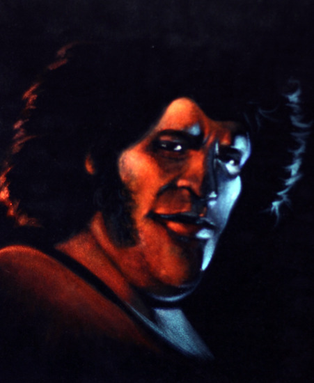 Andre The Giant Velvet Painting by Karin Madan