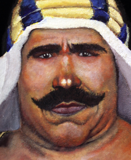 Iron Sheik Velvet Painting by Jonathan Cooper