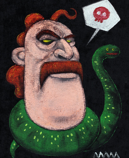 Jake 'The Snake' Roberts Velvet Painting by Eliot Mechanism
