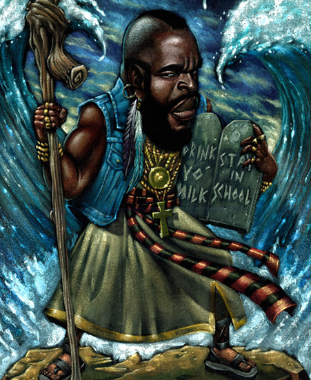 Mr. T - The T. Commandments Velvet Painting by Augie Pagan