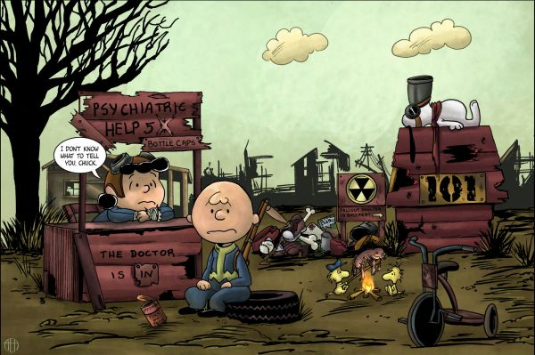 Post-Apocalyptic Peanuts: Charlie Brown x Fallout