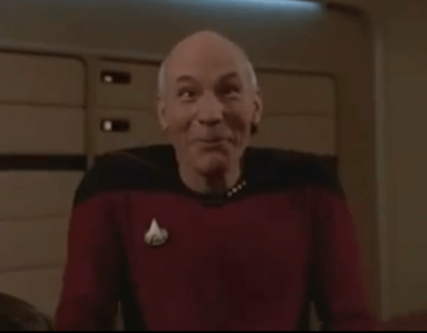 Captain Jean-Luc PIcard Funny Face - Patrick Stewart in Star Trek The Next Generation