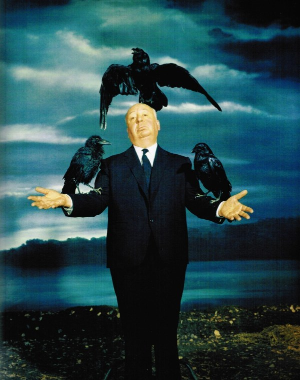 Alfred Hitchcock promo photo for The Birds by Philippe Halsman (1962)