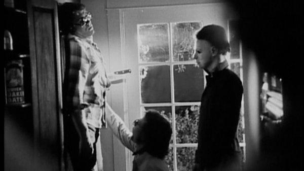 halloween behind the scenes of Bob Simms death scene