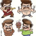 Lil Ron Swanson by Kenny Durkin - Parks and Recreation
