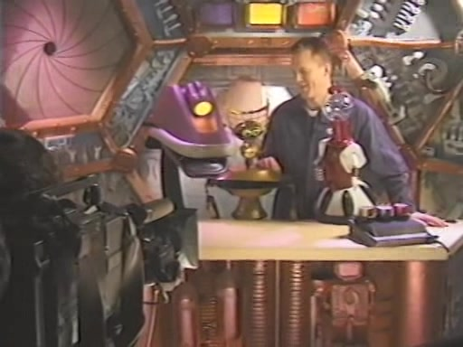 MST3K Last Dance - Gypsy, Crow, Mike Nelson, and Tom Servo Filming Scene on Satellite of Love