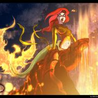 Ariel Destroyer of that World by Bryan-Lobdell - Disney's Little Mermaid x X-Men's Dark Phoenix