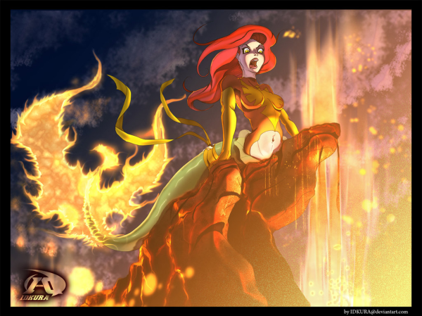 Ariel Destroyer of that World by Bryan-Lobdell - Disney's Little Mermaid x X-Men's Dark Phoenix