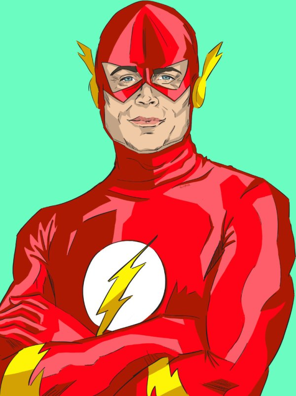 Chris Traeger as The Flash - Parks and Recreation, Justice League, Rob Lowe