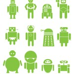 Alternative Android Logos Based on Robots from TV & Film by Matt Cowan
