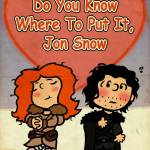 Game of Thrones x Peanuts: Jon Snow and the Little Fire-Haired Girl - Charlie Brown x A Song of Ice and Fire