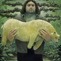 Torment Of The Banished by Aaron Jasinski - LOST Art from Gallery1988's Bad Robot Art Experience - Hurley and Polar Bear
