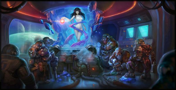 Snow White and the Seven Dwarfs Space Opera by Aleksandr Nikonov - Reimagined Fairy Tale Illustrations